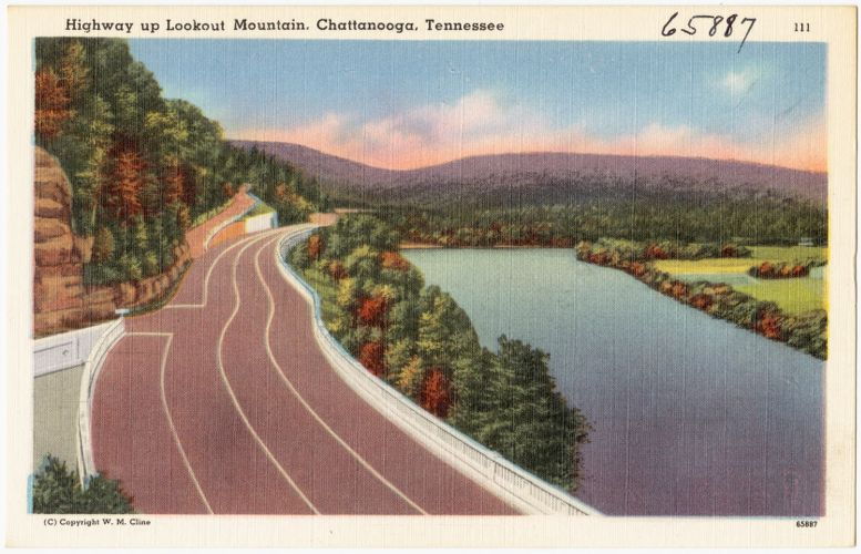 Highway up Lookout Mountain, Chattanooga, Tennessee