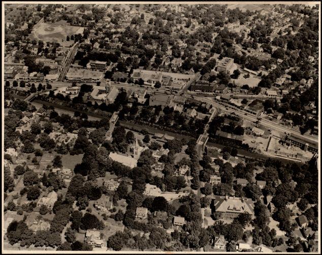 Aerial view, West Newton. Newton, MA
