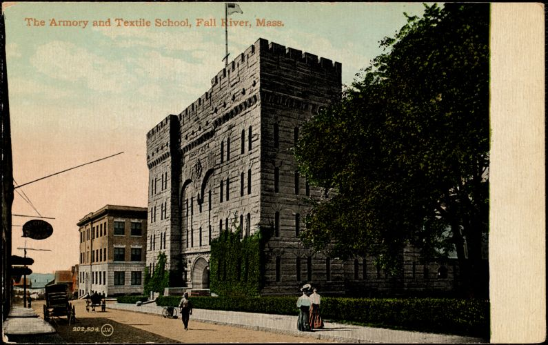The Armory and Textile School, Fall River, Mass.