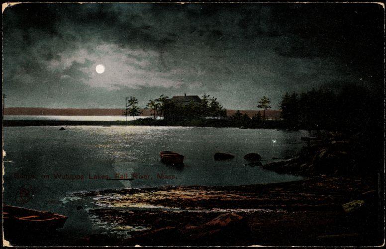 Sunset on Watuppa Lakes, Fall River, Mass.