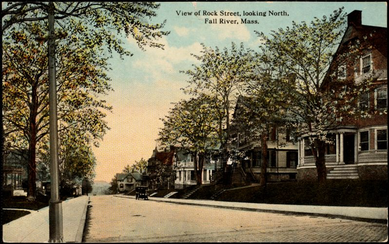 View of Rock Street, looking north, Fall River, Mass.