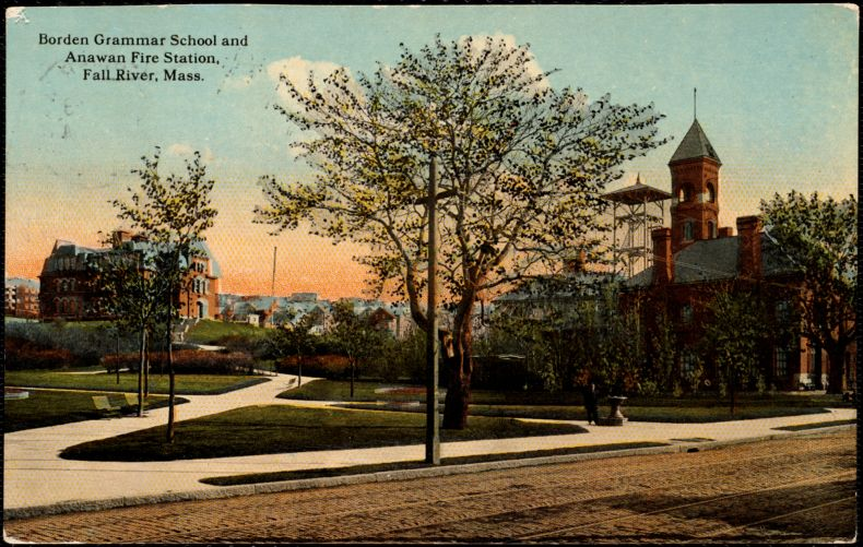 Borden Grammar School and Anawan Fire Station, Fall River, Mass.