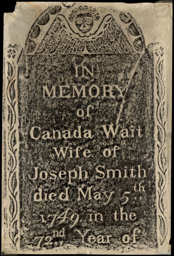 Canada Wait gravestone rubbing