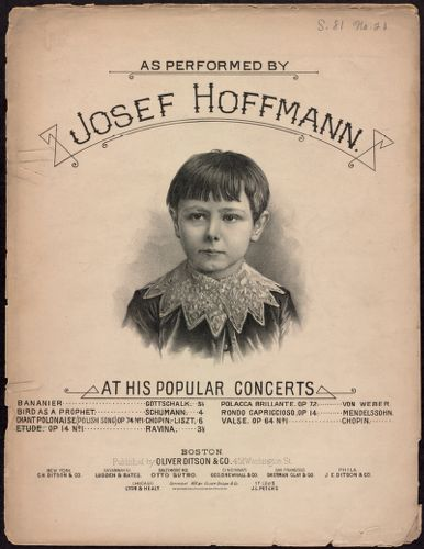 As performed by Josef Hoffmann at his popular concerts