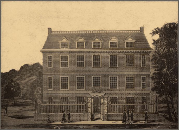 Residence of Sir Henry Frankland, corner of Garden Court and Prince Street