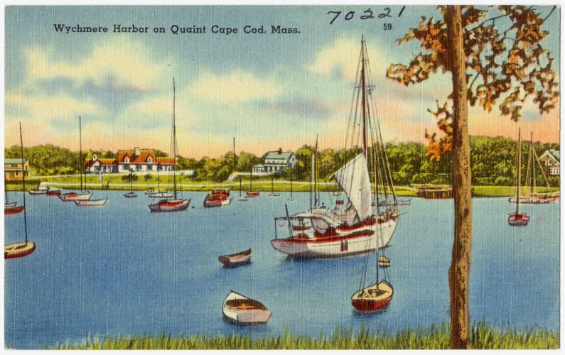 Wychmere Harbor on Quant Cape Cod, Mass.