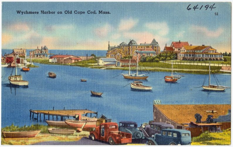 Wychmere Harbor on Old Cape Cod, Mass.