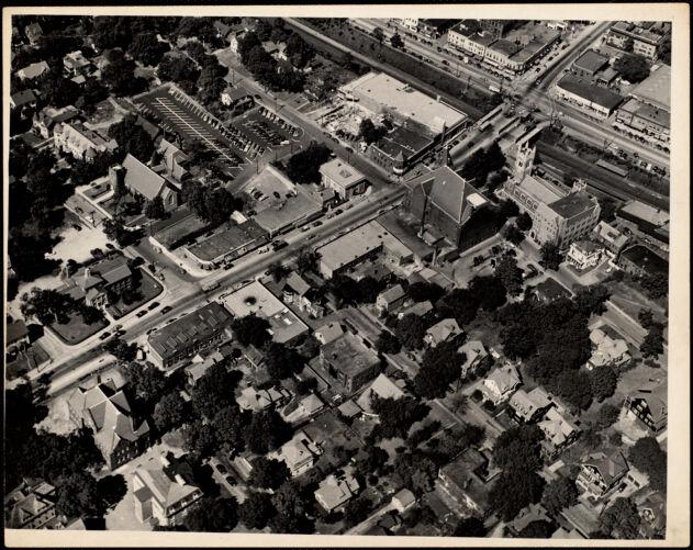 Aerial view, Star Market, Newtonville. Newton, MA