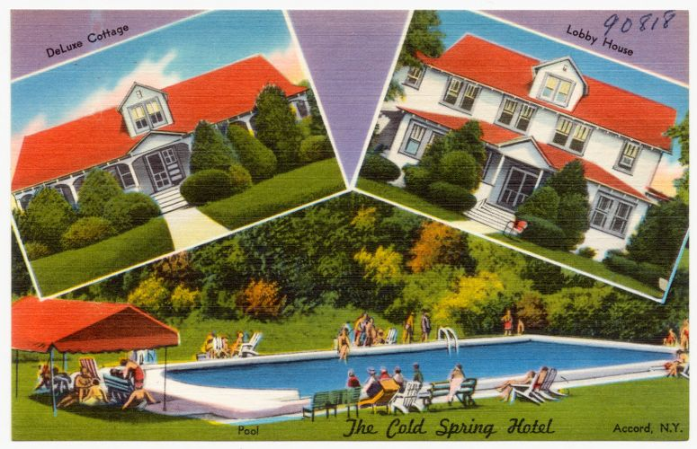 The Cold Spring Hotel, Accord, N. Y. -- deluxe cottage, lobby house, pool