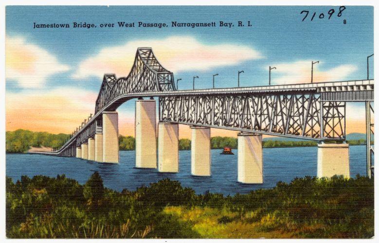 Jamestown Bridge, over West Passage, Narragansett Bay, R. I.