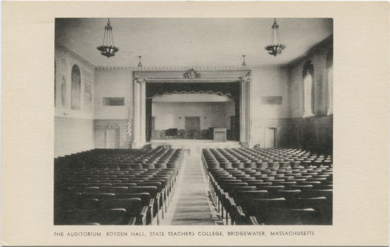 The auditorium, Boyden Hall, State Teachers College, Bridgewater, Massachusetts