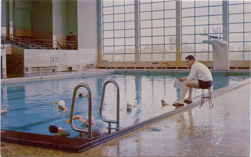 Gymnasium swimming pool, Bridgewater State College