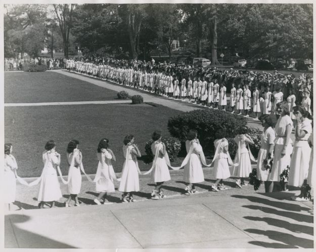 Graduation procession, State Teachers College at Bridgewater, Massachusetts