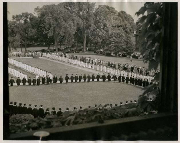 Graduation exercises, State Teachers College at Bridgewater, Massachusetts