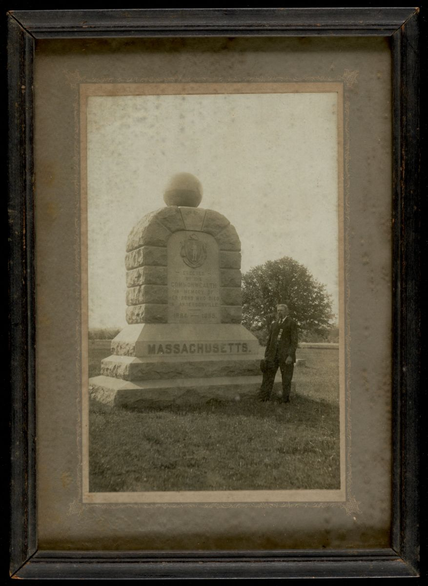 A monument to Massachusetts soldiers at Andersonville. Lee Library/Digital Commonwealth