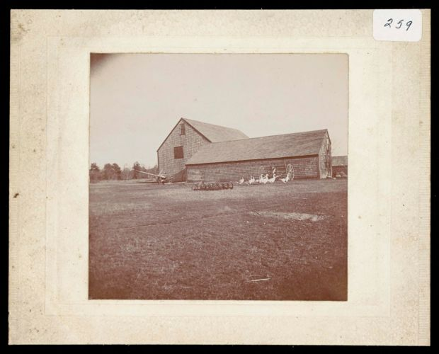 Roberts Farm, barn and workshop, 1895