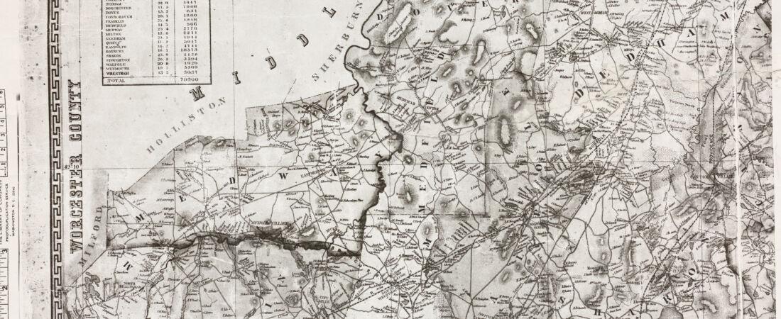 Map of Norfolk County, Massachusetts