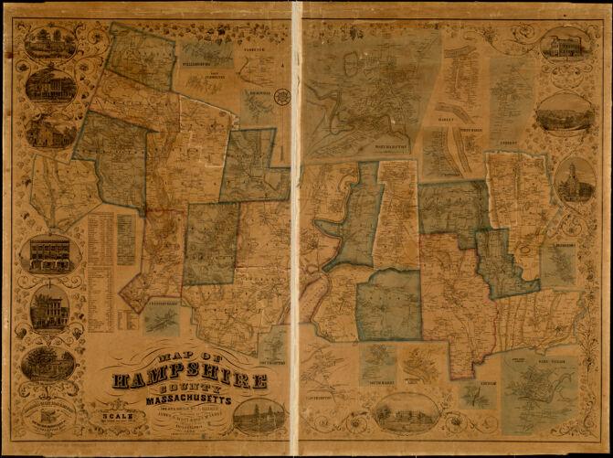 Map of Hampshire County, Massachusetts