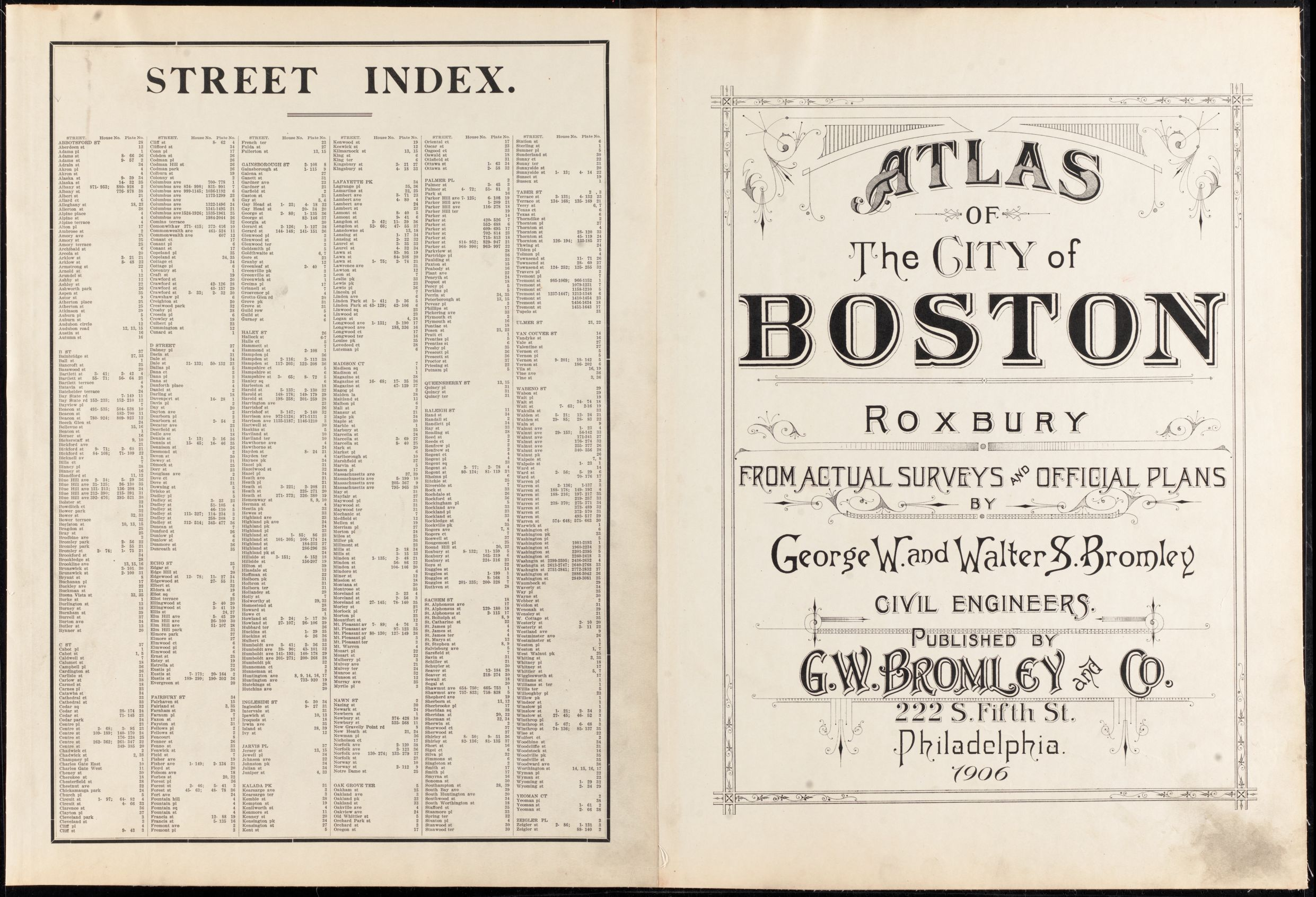 Atlas of the city of Boston : Roxbury