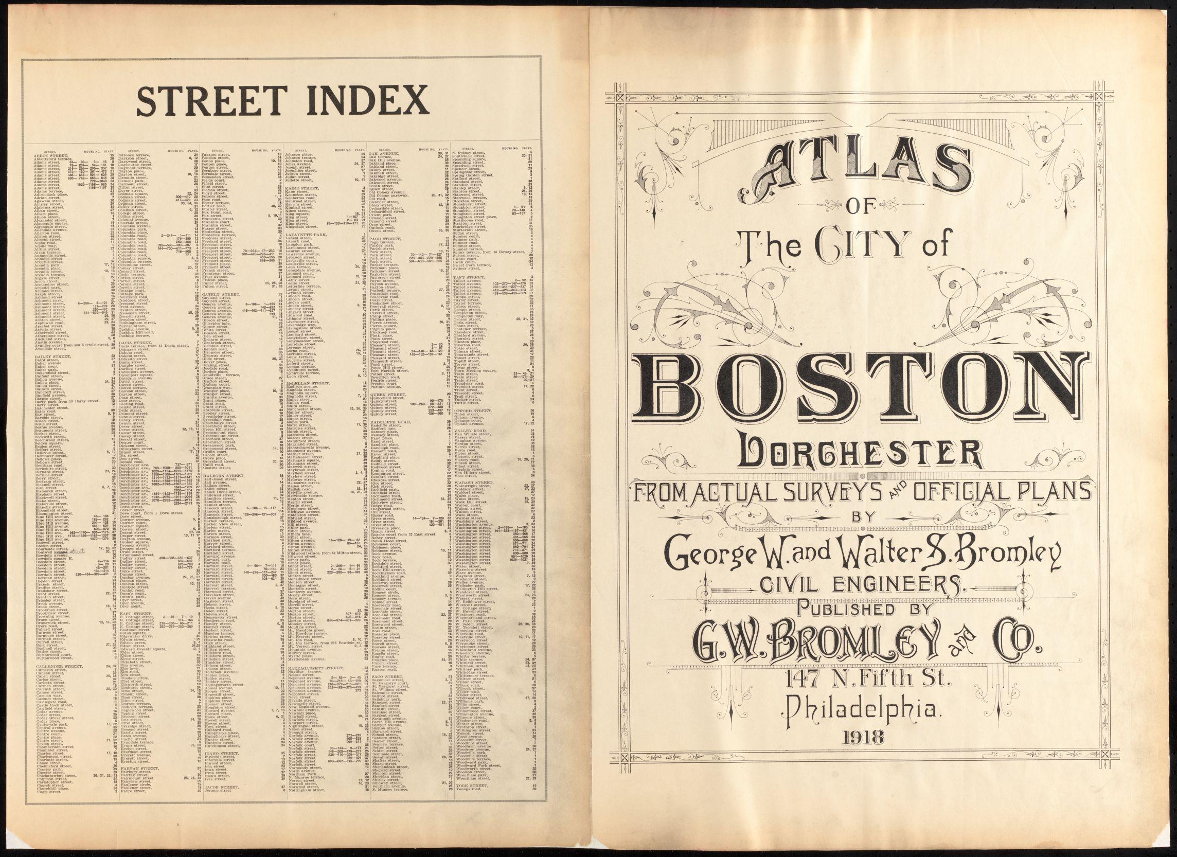 Atlas of the city of Boston : Dorchester