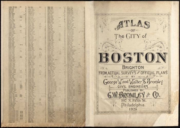 Atlas of the city of Boston : Brighton
