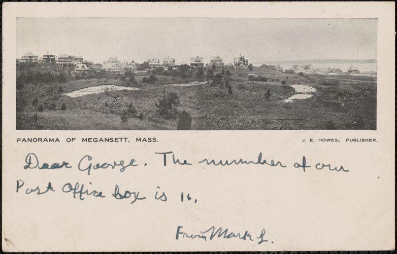 Panorama of Megansett, Mass.