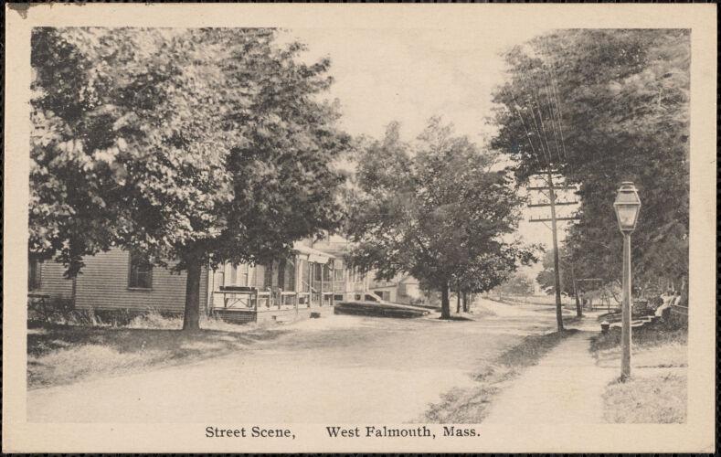 Street Scene, West Falmouth, Mass.