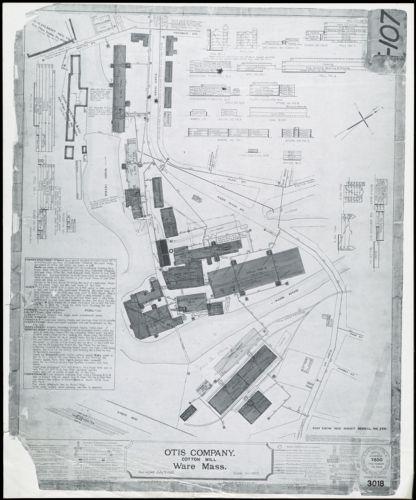 Otis Company, Cotton Mill, Ware, Mass. [insurance map]