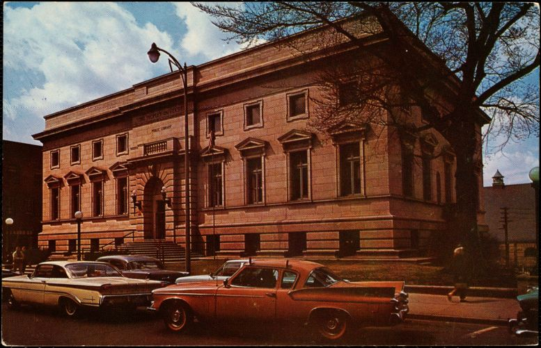 """""""People's University,"""" the public library, Fall River, Massachusetts"""