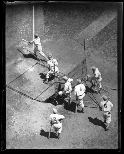 Batting practice from above