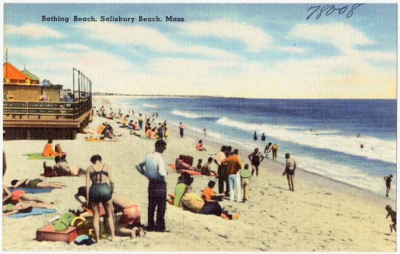 Bathing beach, Salisbury Beach, Mass.