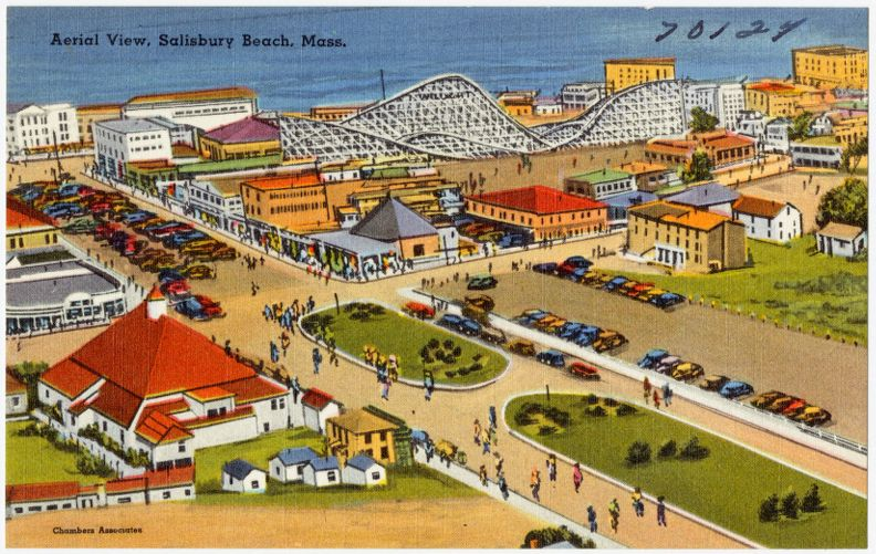 Aerial view, Salisbury Beach, Mass.