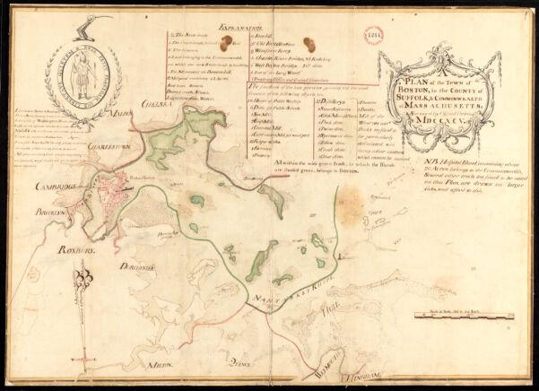 Plan of Boston surveyed by Osgood Carleton, dated 1795.