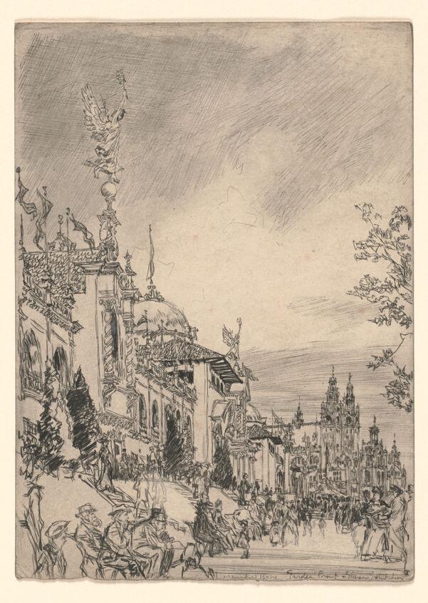 The garden front, Glasgow Exhibition