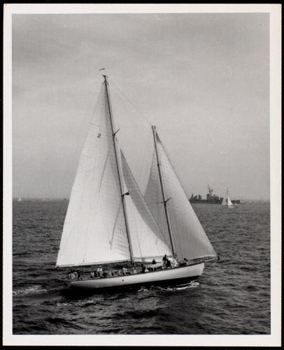 """1966 - Newport - Bermuda Race No. 2 - Schooner - """"NINA"""" (winner in 1962)"""