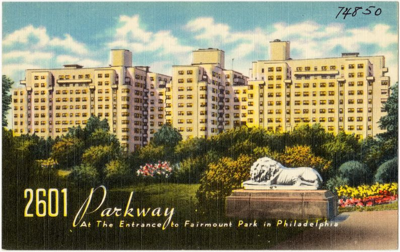2601 Parkway at the entrance to Fairmount Park in Philadelphia