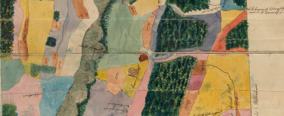 Plan of Wilbraham made by Aaron Bliss, dated 1830