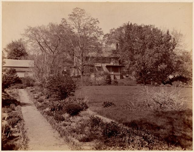 The Francis Parkman House and garden, Jamaica Pond, 1894