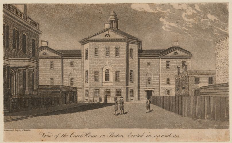View of the court house in Boston. Erected in 1811 and 1812