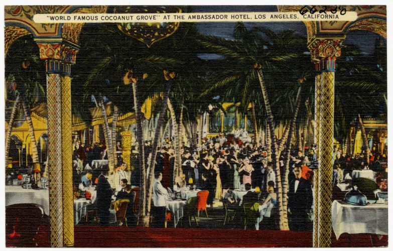 """World famous cocoanut grove"" at the Ambassador Hotel, Los Angeles, California"
