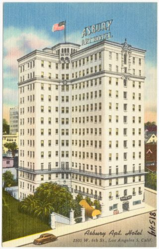 Asbury Apt. Hotel, 2505 W. 6th St., Los Angeles 5, Calif.
