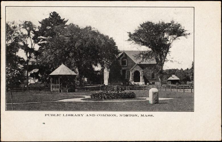 Public library and common, Norton, Mass.