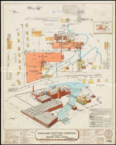Ashland Cotton Company (Cotton & Rayon), Jewett City, Conn. [insurance map]