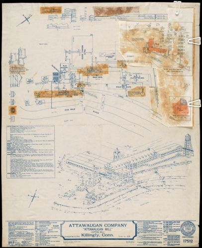 "Attawaugan Company ""Attawaugan Mill"" (Cotton Mill), Killingly, Conn. [insurance map]"