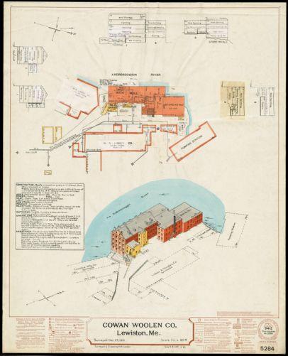 Cowan Woolen Co., Lewiston, Me. [insurance map]