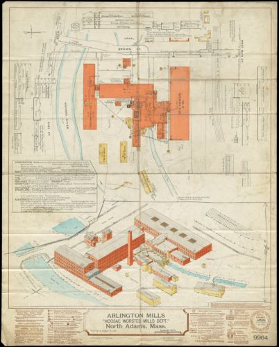 "Arlington Mills ""Hoosac Worsted Mills Dept."" North Adams, Mass. [insurance map]"