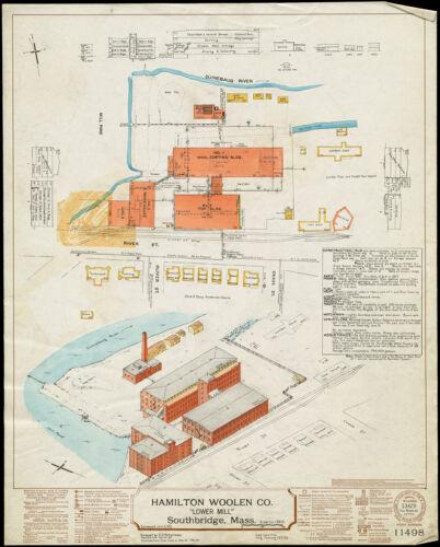 "Hamilton Woolen Co. ""Lower Mill,"" Southbridge, Mass. [insurance map]"