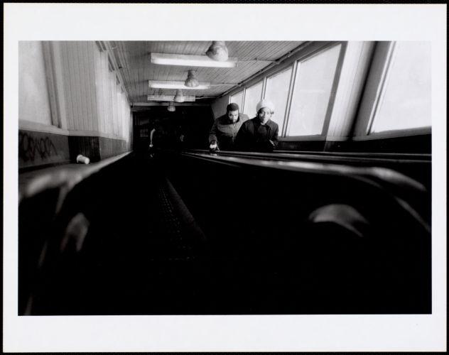 Wooden escalator, Egleston Station