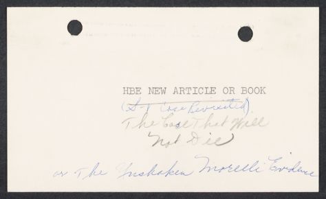 """Herbert Brutus Ehrmann Papers, 1906-1970. Sacco-Vanzetti. Correspondence concerning """"New article or book"""" on Sacco-Vanzetti case, August 1962 - January 1964. Box 4, Folder 6, Harvard Law School Library, Historical & Special Collections"""