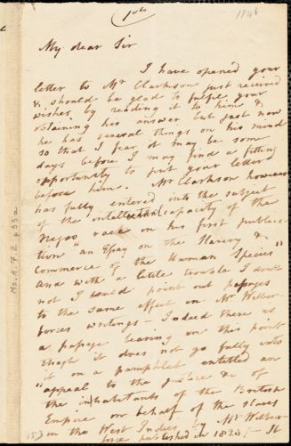 Letter from Catherine Clarkson, Ipswich, [England], to John Bishop Estlin, 1846 May 12